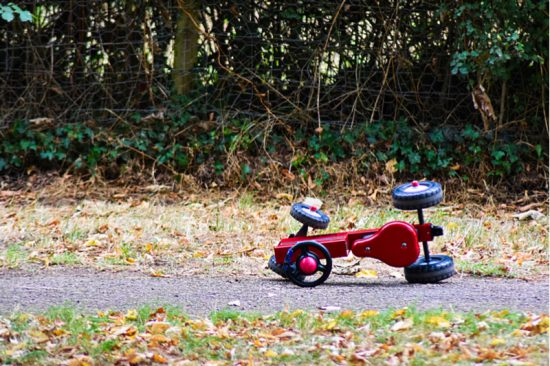 Fallen tricycle