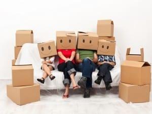 moving, new neighbors, neighborhood, unpacking boxes, new family on the block