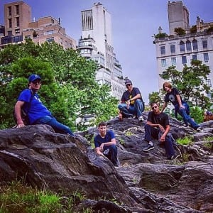 Summer interns in Central Park, August 2014. Elliot is on the far left.