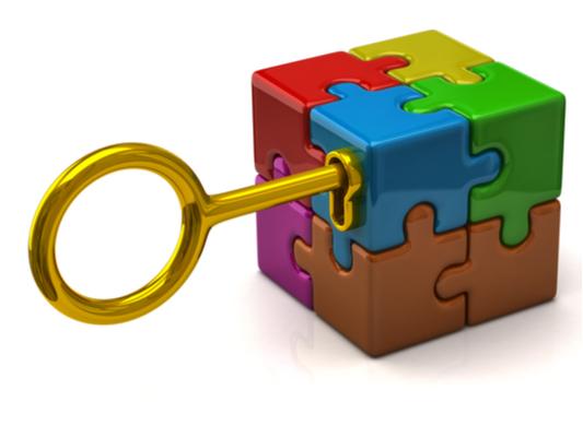 Key Unlocking Colorful puzzle world