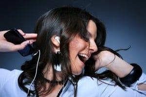 earphones, music, lyrics, self-esteem, behavior