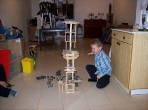 tower, building with Kapla