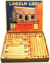 early lincoln log set 1930's
