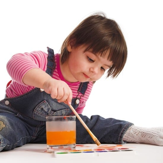 When a child paints a picture, there's something real to show for her efforts. That's part of the fun.