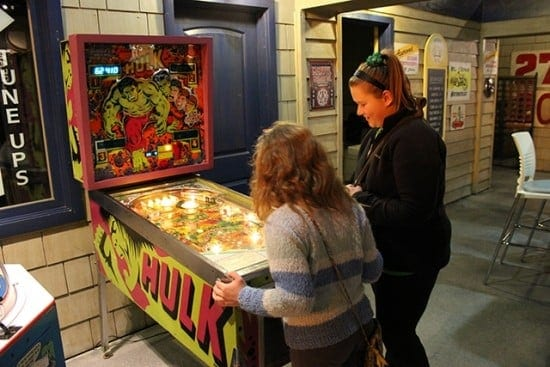 Pinball wizards try their hand at the game (courtesy)