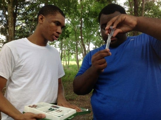 After School STEM Program - Soil Test conducted at The Hill at Sims Greenway Houston Texas (courtesy)