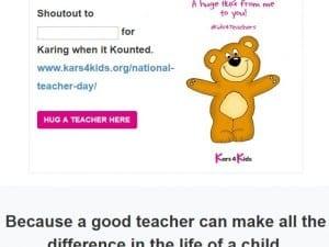 Hug A Teacher