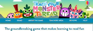 Teach your monster to read website screenshot