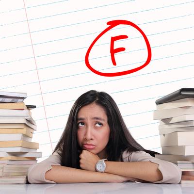 anxious failing student